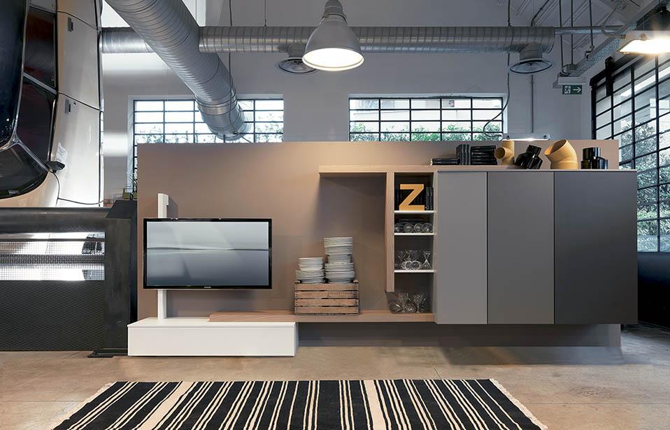Mobili contenitori soggiorno moderni for Mobili soggiorno design